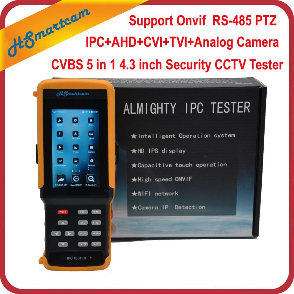 4.3 HD WiFi CCTV Tester Monitor AHD CVI TVI Analog CVBS RS485 1080P IP Camera Tester Support ONVIF Hikvision Dahua Camera Test