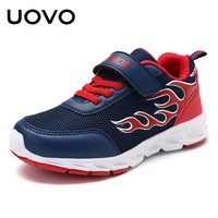UOVO 2017 Boys Fashion Sneakers Textile Breathable Kids Shoes Flame Pattern Children Shoes For Eur Size