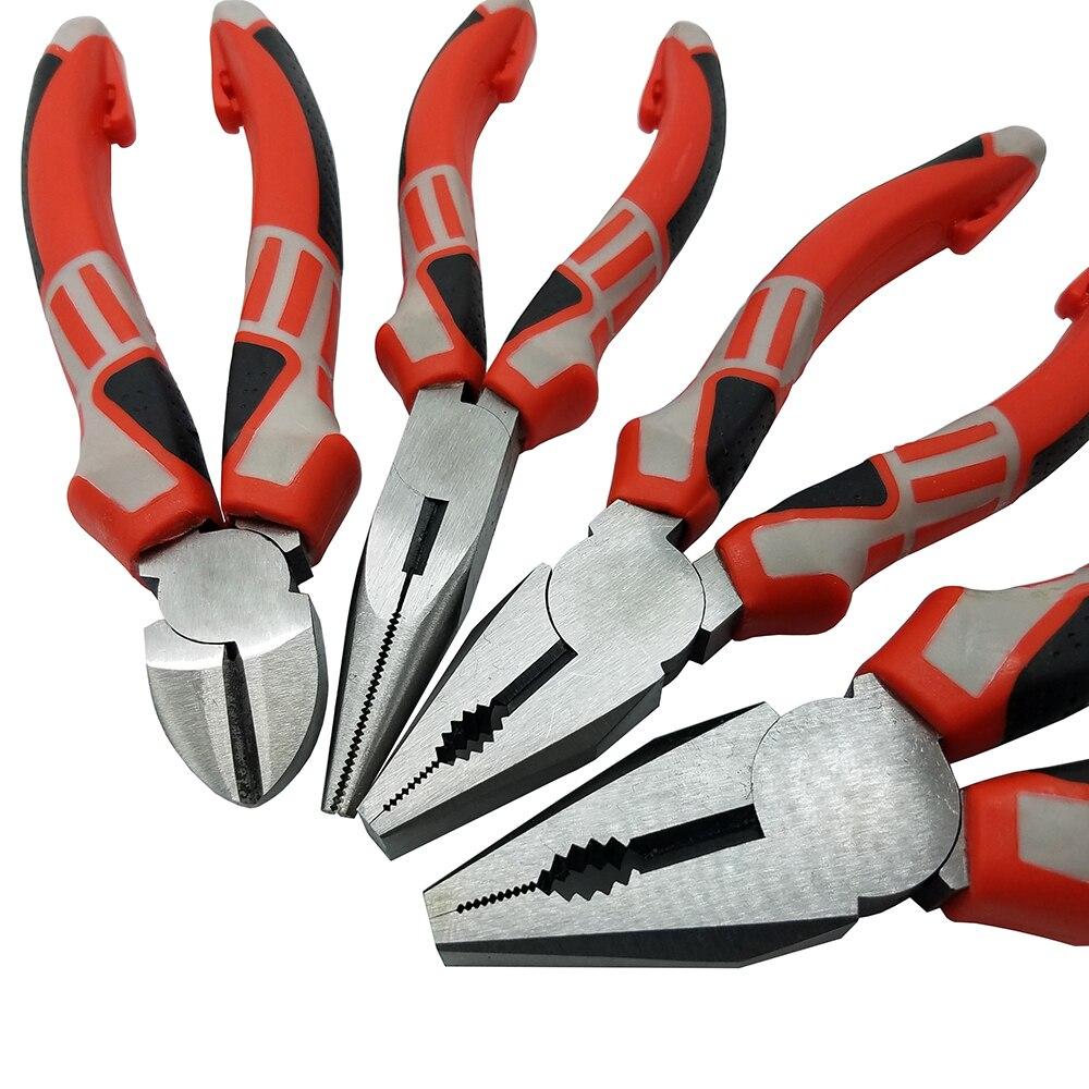 GroßZüGig Lange Nase Zangen Seitenschneider Zangen Draht Schneiden 3 Farbe Griff Hohe Qualität Werkzeuge 6/8 Zoll Handwerkzeuge Werkzeuge