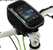 4.2INCH NEW Cycling Bicycle bike Handlebar Black Bag for Touch Screen Cell Phone Iphone 4s Iphone 5 HTC/GPS Feer  Shipping