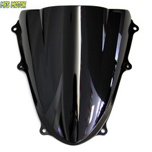 Motorcycle Accessories Double Bubble Windshield/Windscreen - Black For Suzuki GSXR 1000 K9 2009 2010 09 10 цена