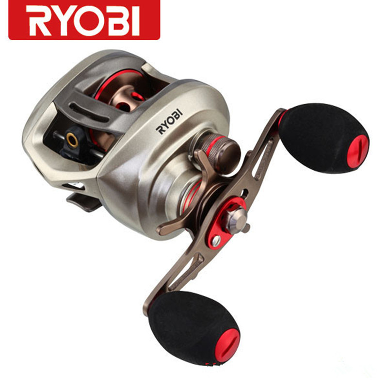 RYOBI AQUILA Baitcasting Fishing Reel 8+1BB 6.3:1 R/L Hand Fishing Reels Round Coil Fishing Tackle Molinete Pesca Carretilha nunatak original 2017 baitcasting fishing reel t3 mx 1016sh 5 0kg 6 1bb 7 1 1 right hand casting fishing reels saltwater wheel