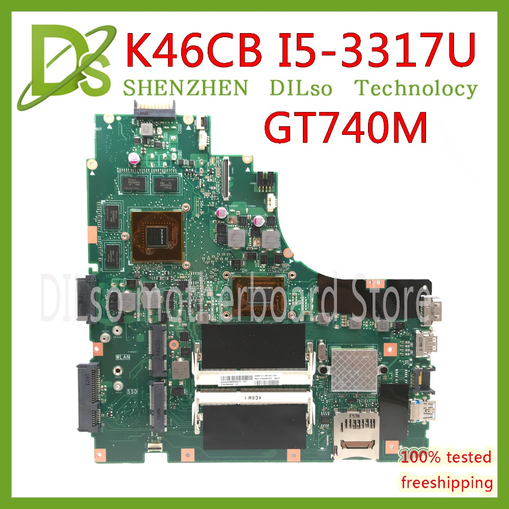 KEFU K46CB motherboard For ASUS K46CB K46CM A46C Laptop Motherboard I5-3317U CPU PM K46CB viedo card original 100% work Test kefu k46cb motherboard for asus k46cb k46cm a46c laptop motherboard i5 3317u cpu pm k46cb viedo card original 100