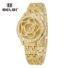 2019 Brand watch Quartz Watch Rhinestone Wristwatches Waterproof women's Watch Women luxury watches Relogios feminine For Belbi