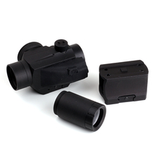 Tactical Hunting Red Dot Sight 1x 25mm 2 MOA Dot Scope with 2X Doubler Lens and Weaver-Style Mount Matte