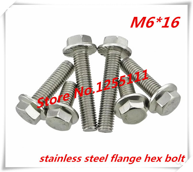 US $6 66 |50pcs M6*16 M6 x 16 Stainless Steel Flange Hex Bolt-in Bolts from  Home Improvement on Aliexpress com | Alibaba Group