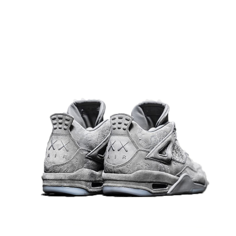 Original New Arrival Official Nike KAWS x Air Jordan 4 Cool Grey Breathable Men's Basketball Shoes Sports Sneakers Outdoor 3