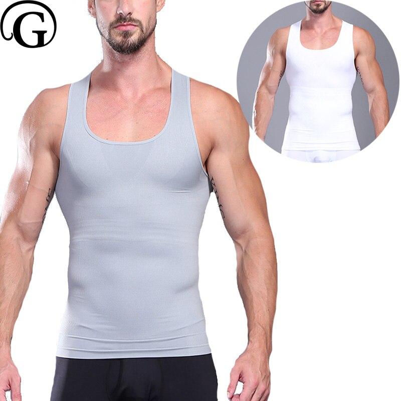 85d99ddef25a7 Man body shaper Gynecomastia Chest binder Shaper abdomen corset posture  shirt Beer Belly Control Shaper Slimming
