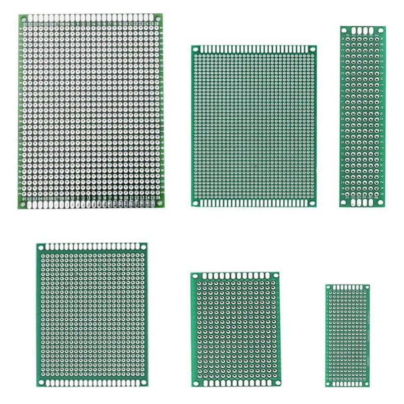 36 Pieces Double Sided PCB Board Prototype Kit, 5 Sizes Universal Printed  Circuit Protoboard with Free Box, for DIY Soldering