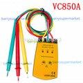 Rotação de fase Indicador Medidor VC-850A Fase Medidor De Seqüência, 3 Eletricidade Fase & Rotation Tester Detector Medidor