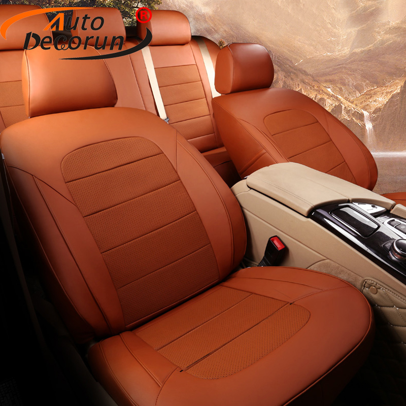 AutoDecorun Cowhide Leather Seat Covers for Jeep Wrangler JK Unlimited Rubicon Seat Protector Accessories 2 & 4 Doors 2007-2018