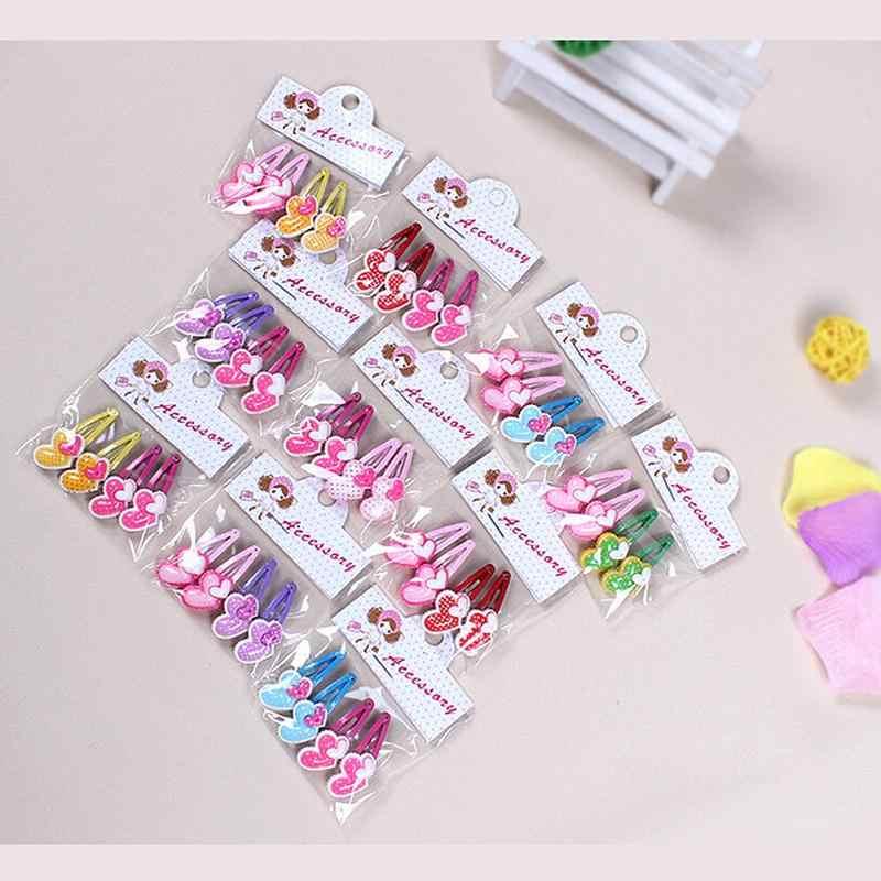 4 Buah/Banyak Bunga Rambut Klip Balita Ikatan Simpul Satin Jepit Rambut untuk Bayi Anak-anak Gadis Pita Rambut Dekorasi