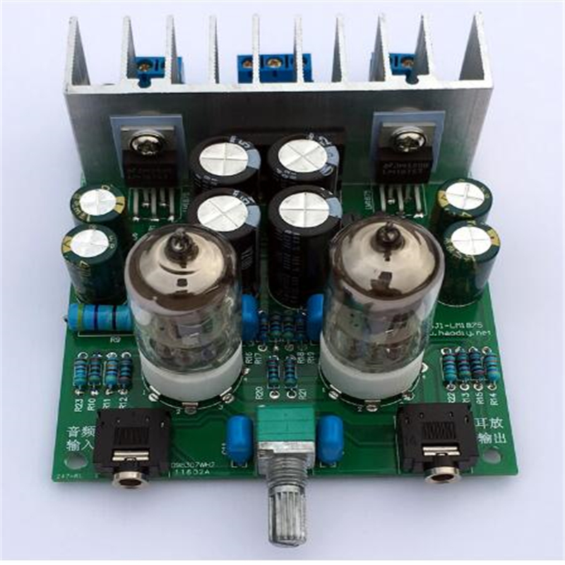 Diy kits HIFI <font><b>6J1</b></font> tube amplifier Headphones amplifiers <font><b>LM1875T</b></font> power amplifier 30W image