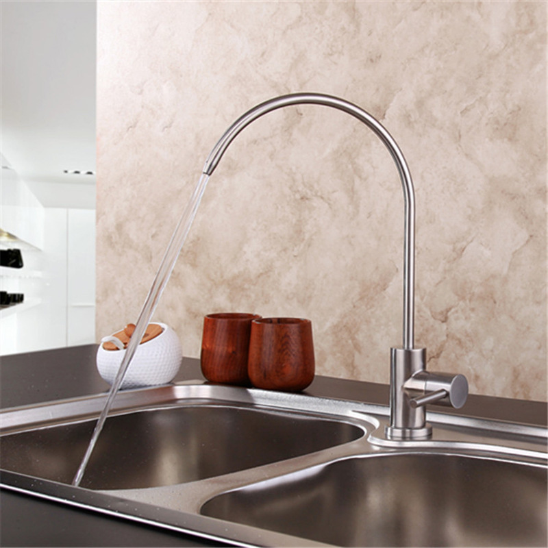 Aliexpresscom Buy Ss304 Stainless Steel Water Faucet Brushed Kitchen  Faucets Straight Drink Water Mixer Tap Pots