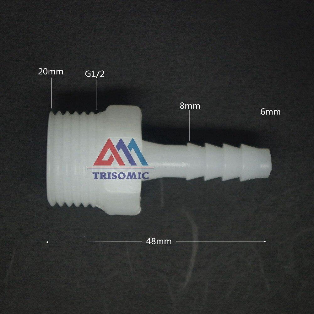 Rohrverbindungsstücke 6mm-g1/2 Gerade Verbindungskunststoffrohr Fitting Barbed Stecker Mit Gewinde Material Pe Joiner Fitting Aquarium Einfach Zu Reparieren
