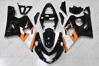 Обтекатели GSXR 600 2004 2005 K4 цвет черный, белый, желтый; Большие размеры 34–43 Пластик Обтекатели GSX R 750 2004 тела Наборы GSX R600 2004