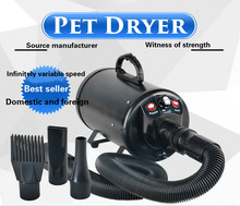 Single motor pet water blower high power silent dog hair dryer large teddy dog dryer professional portable double motor low noise pet blower dog grooming dryer 700 3200w 220v 110v stepless wind speed