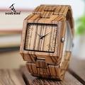 BOBO BIRD L-L24  элегантные японские кварцевые мужские часы с зеброй  деревянные часы с квадратным скелетом  мужские часы