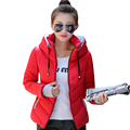 2016 women jacket short padded female down jackets coat fashion women basic coats thicken winter slim warm outerwear JT307