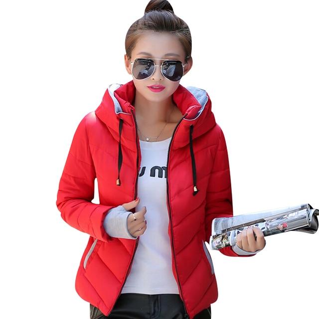2016 women jacket short padded female down jackets coat fashion women basic coats thicken winter slim warm outerwear JT307