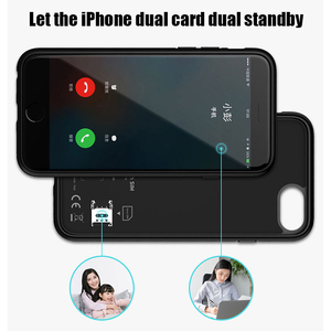 Image 5 - Dual Sim Card Adapter Bluetooth Case for iPhone 6 PLUS 7 PLUS  8 PLUS 6S PLUS Slim Dual Standby Adapter Active Sim Card Holder