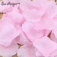100 шт 40 цветов Искусственные высушенные шелковые лепестки роз листья вечерние свадебные принадлежности
