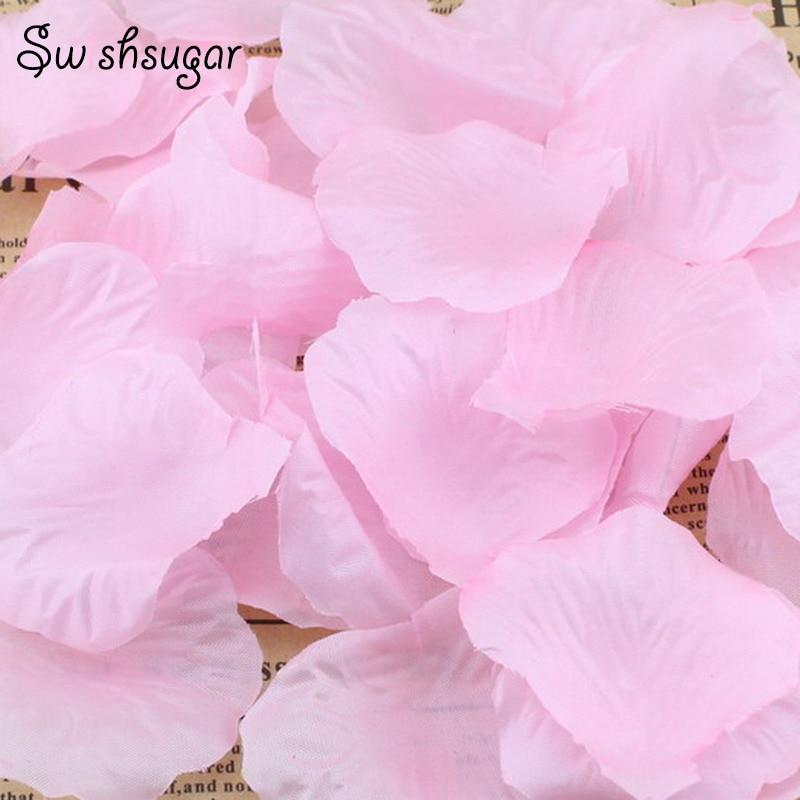 100pcs 40Colors Artificial Dried Flower Silk Rose Petals Leaves Party Event Wedding Supplies Favor