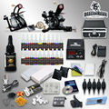 Professional Tattoo Kit 21 color Ink Power Supply 2 Tattoo Machine Guns Tattoo Supplies