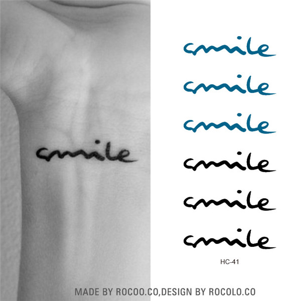 Hc1041 Waterproof Temporary Tattoos Sticker Harajuku Smile