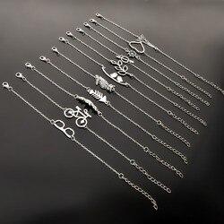 Простой стиль посеребренный браслет ювелирные изделия подарок свадебный банкет оптовая торговля Высокое качество