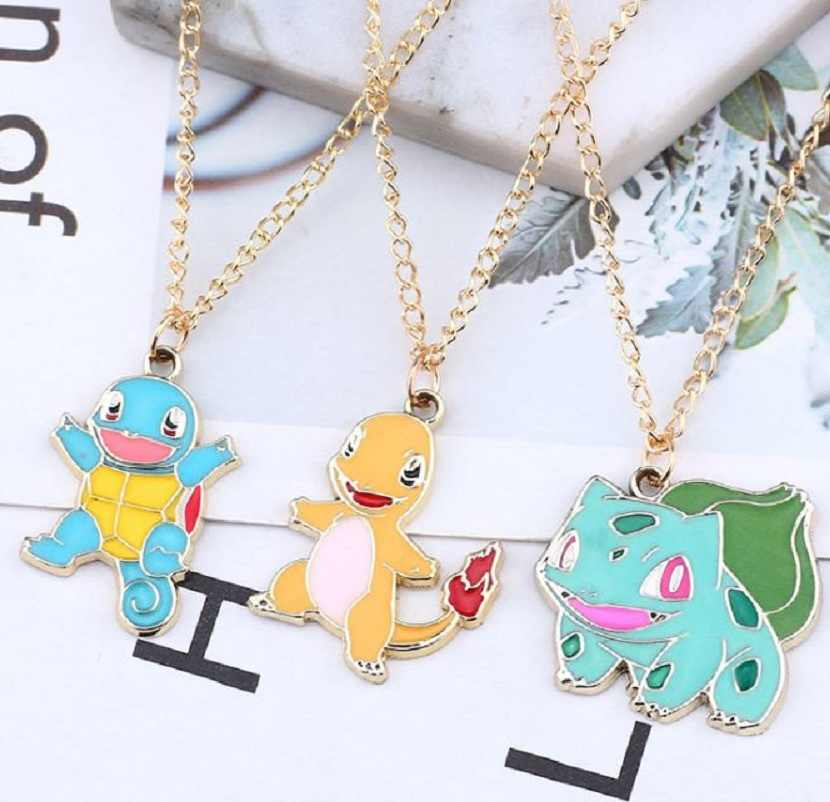 Cartoon Pokemon Necklace Choker Women Cute Enamel Animal Pendant Necklace Fashion Gold Metal Alloy Jewelry Collier Femme