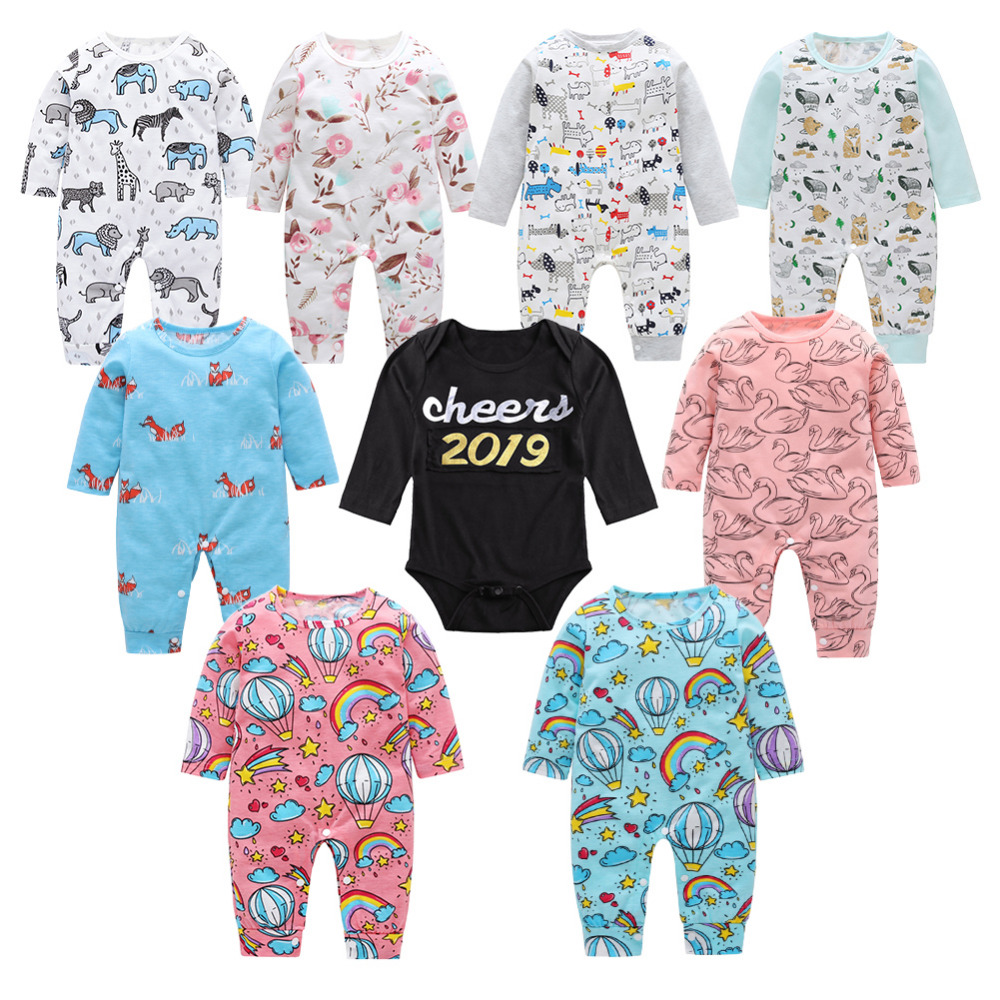 15Styles 2019 baby boys girls clothes long sleeve baby   romper   Cute Rainbow Print Long Sleeve Baby Newborn   Rompers   Basic Jumpsuit