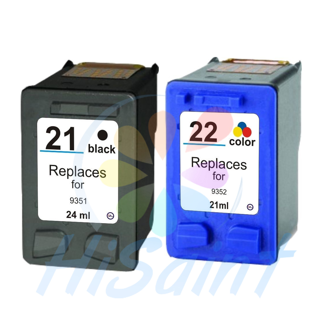hisaint Ink Cartridges For HP21 22 For F380 F2100 F2110 F2240 F2280 F2250 F4100 3915 3920 D1530 Printer Cartridge For HP 21 22 for hp21 22 printer ink href