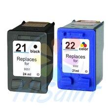 Чернила hisaint картриджи для hp 21 22 для F380 F2100 F2110 F2240 F2280 F2250 F4100 3915 3920 D1530 принтеров для hp 21 22