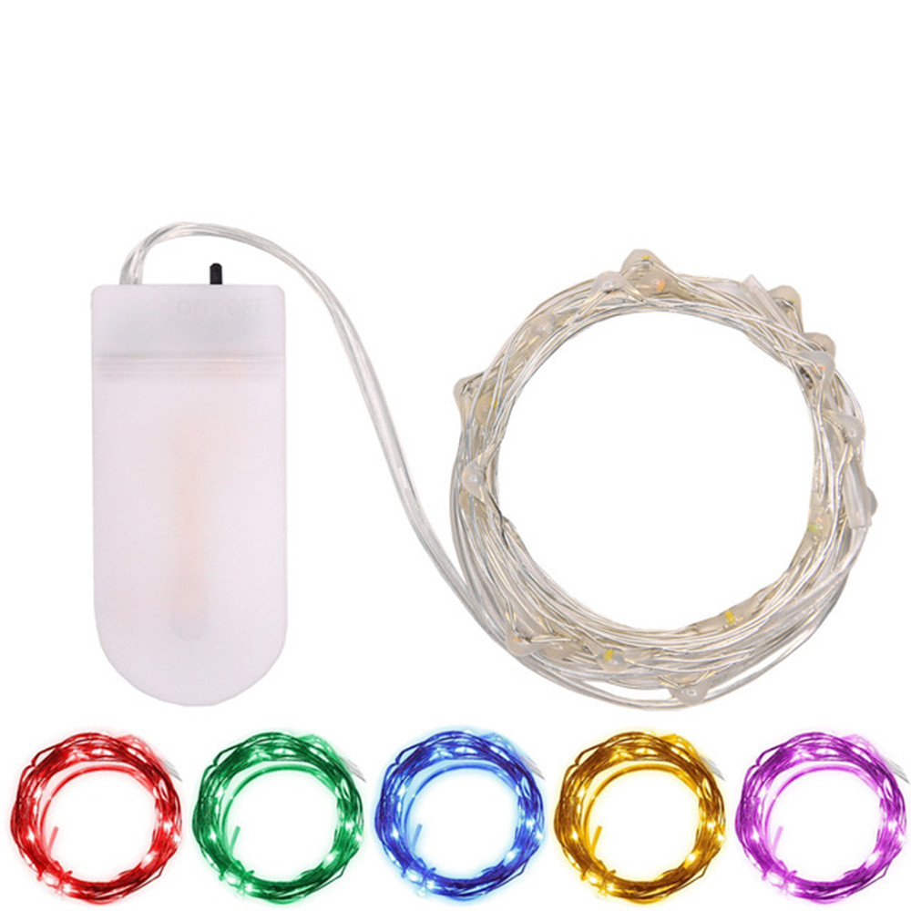 2M 20LEDs Christmas Lights Outdoor Waterproof Fairy LED String Light CR2032 Battery Operated For Party Wedding