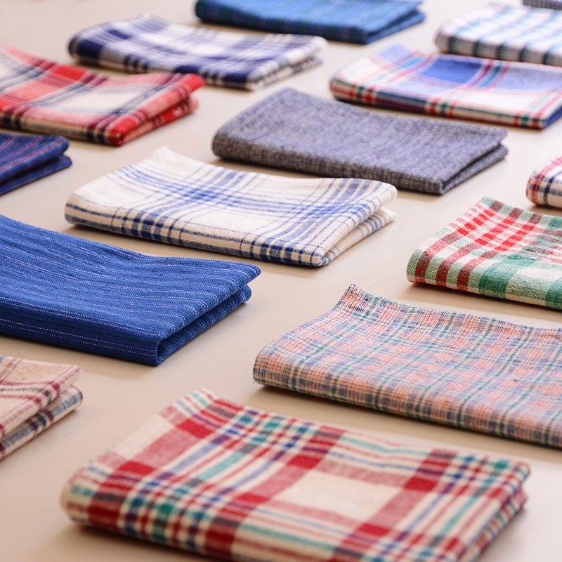 Japan Style Plaid Brief 100%Cotton Handmade cloth mats pads placemats rectangle doilies table decoration accessories 45*30cm