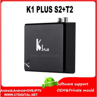 K1 Artı S2 T2 10 adet Android 7.1 TV Kutusu KAM Amlogic S905D Quad çekirdek Hibrid Set Top Box k1 artı s2 dvb-t2 android 1G 8G Kodi H.265