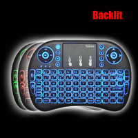 Yakee Backlight I8 English Russian Spanish 2 4GHz Wireless Keyboard Air Mouse Touchpad Backlit For Android