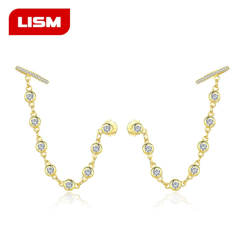 Женские серебряные Ушная манжета 925 пробы, длинные серьги клипсы с волнистыми ушками, модные ювелирные украшения