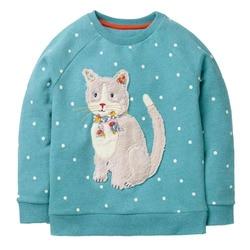 Girls Hoodies 2018 Baby Girl Clothes Winter Children Hoodies for Girls Sweatshirt with Animal Applique Kids Long Sleeve Tops