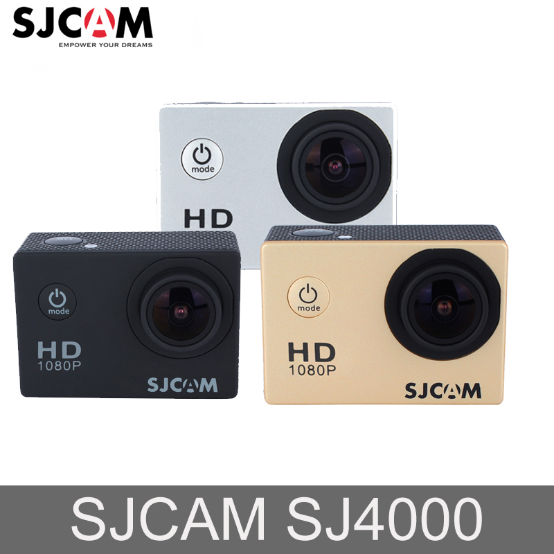 En stock en Russie! Sjcam SJ4000 SJ4000 WIFIHD 30 M Étanche Mini Sport Caméra De Voiture 12MP caméra extérieure DVR caméra d'action