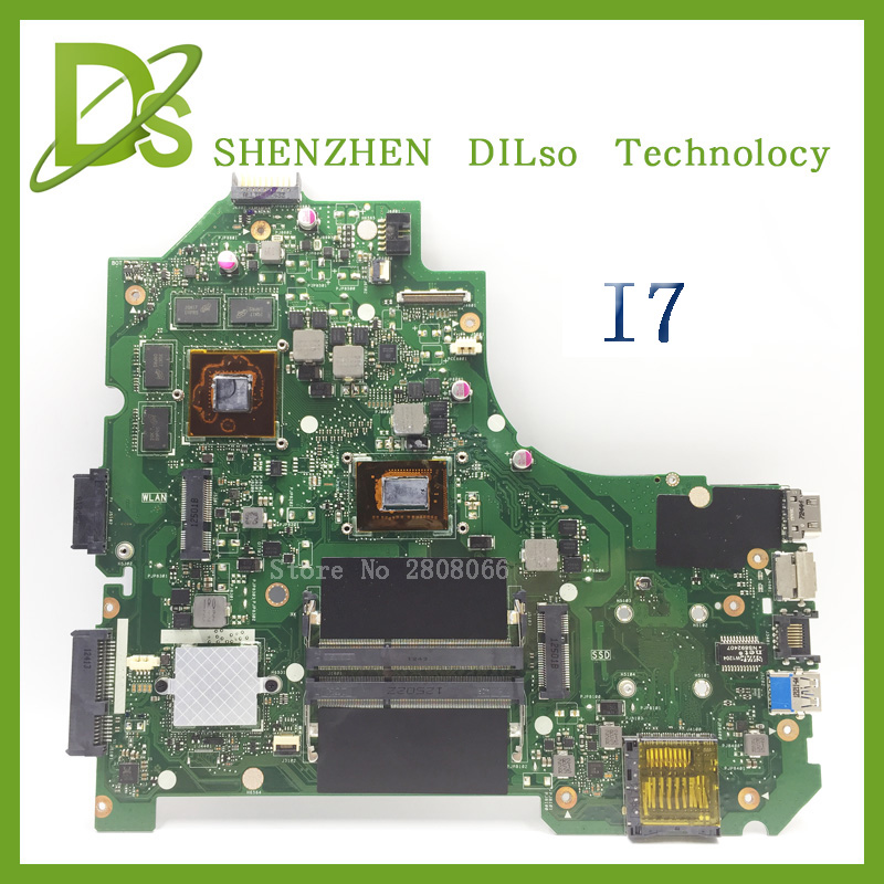 For ASUS K56CM A56C S550CM Laptop Motherboard  i7 CPU PM  Mainboard 100% tested  K56CM mainboard  Non-Integrated  k56cb laptop motherboard for asus with i7 cpu non integrated k56cm mainboard 100