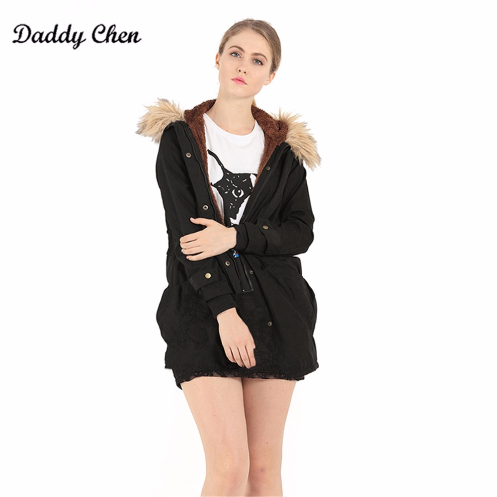 Long Cotton Cashmere Parka warm Winter Jacket Women Coat Thick Hooded Fur Collar Military Jackets Padded Slim female Winter Coat women parka winter jacket 2017 new down cotton padded coat slim fur collar hooded thick warm long overcoat female parka qw697