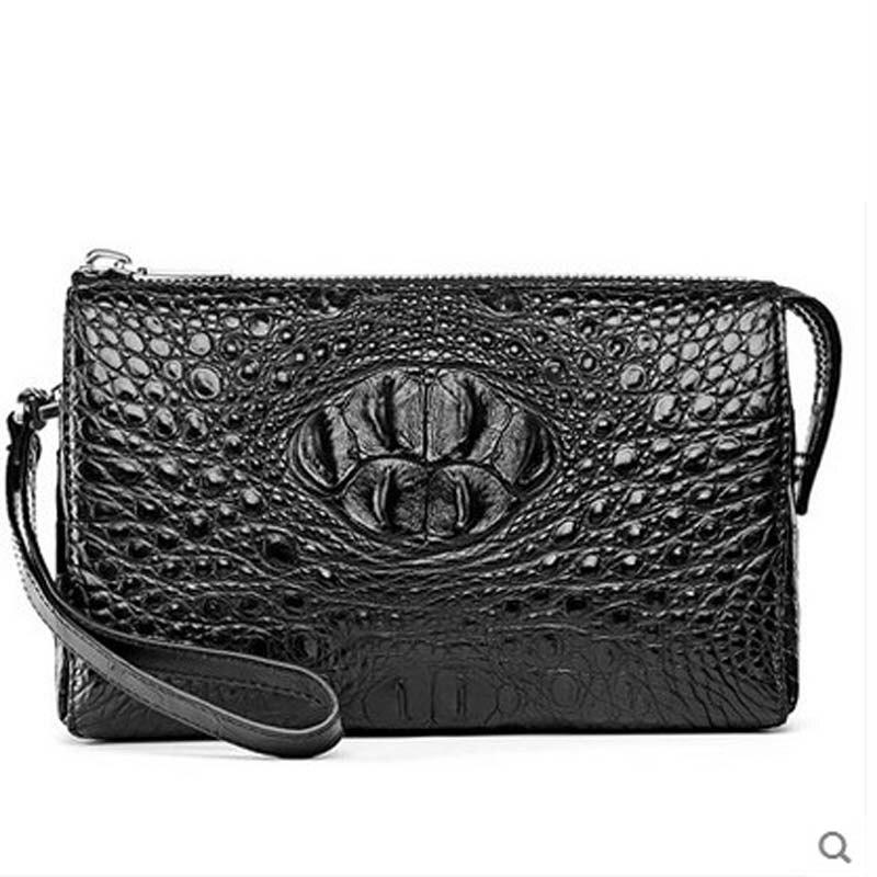 2018 hlt crocodile men clutch bag man's large leather wallet leather wallet leather man bag business casual bag