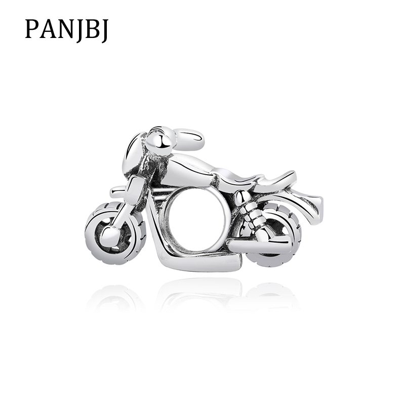 3D Sterling Silver Charms Motorbike Motorcycle Charm