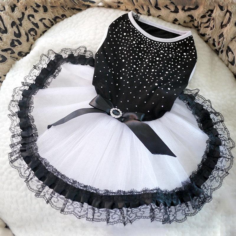 Dog Tutu Dress Lace Dress Cute Pet Cat Princess Apparel Clothes Party Dress For Dog