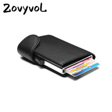 ZOVYVOL 2019 New PU Leather Card Wallets Aluminum Single Box RFID Blocking Package ID Holders Credit Card Holder Men and Women bycobecy arrival pu leather credit card holders aluminum women and men 2019 new vintage id wallets high quality card holder rfid