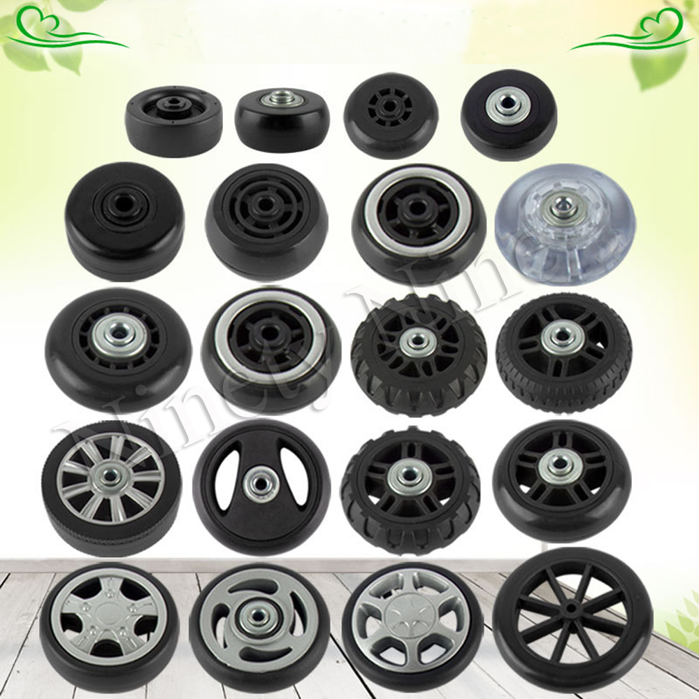 4Pcs NEW Luggage Replacement Wheels Suitcase Repair Parts 360 Spinner Upright Mute High Quality Travel Suitcases Black Wheel