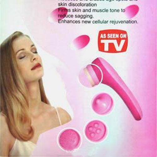 FREE SHIPPING Five massage head electric massager,useing 2 * AA batteries