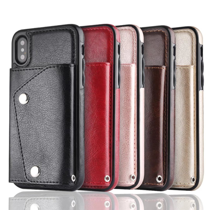 Luxury Cover for iPhone X Case Wallet Cards Slots (23)